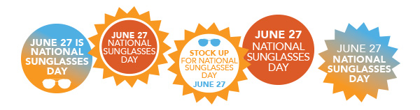 Sunglasses Day  2017 materials national sunglasses day